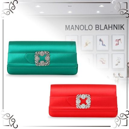 2WAY Plain Handmade Party Style Clutches