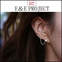 E and E PROJECT Casual Style Silver 14K Gold Earrings & Piercings