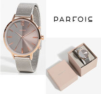 PARFOIS Round Jewelry Watches Office Style Analog Watches