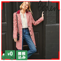 Boden Other Check Patterns Wool Long Elegant Style Chester Coats