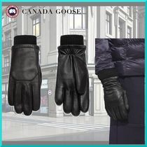 CANADA GOOSE Street Style Plain Leather Leather & Faux Leather Gloves