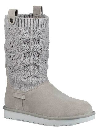 UGG Australia Ankle & Booties Round Toe Rubber Sole Casual Style Suede Blended Fabrics 8