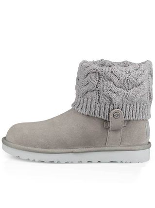 UGG Australia Ankle & Booties Round Toe Rubber Sole Casual Style Suede Blended Fabrics 9