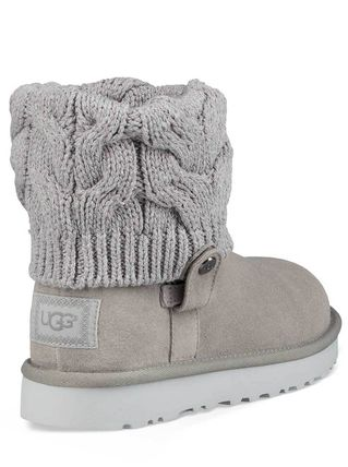 UGG Australia Ankle & Booties Round Toe Rubber Sole Casual Style Suede Blended Fabrics 10