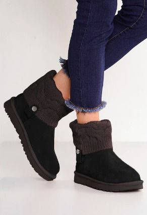 UGG Australia Ankle & Booties Round Toe Rubber Sole Casual Style Suede Blended Fabrics 14