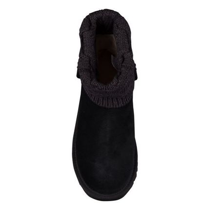 UGG Australia Ankle & Booties Round Toe Rubber Sole Casual Style Suede Blended Fabrics 18