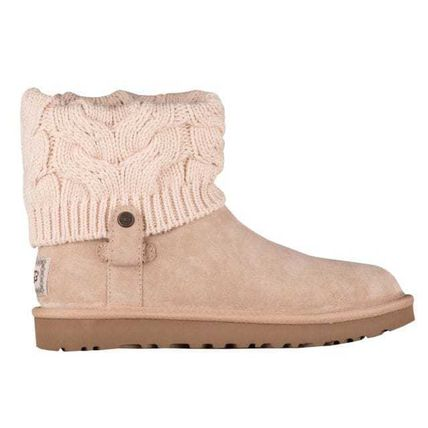 UGG Australia Ankle & Booties Round Toe Rubber Sole Casual Style Suede Blended Fabrics 2