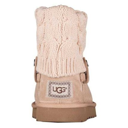 UGG Australia Ankle & Booties Round Toe Rubber Sole Casual Style Suede Blended Fabrics 4