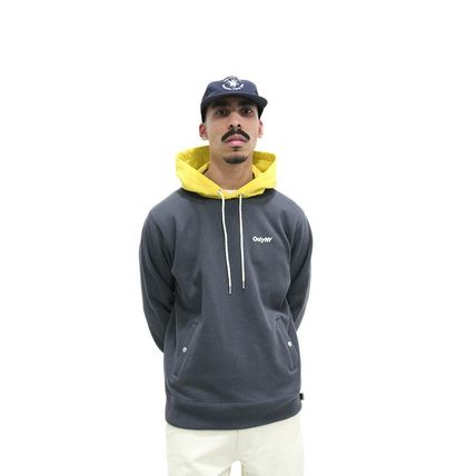 ONLY NY Hoodies Pullovers Street Style Long Sleeves Plain Cotton Hoodies 2