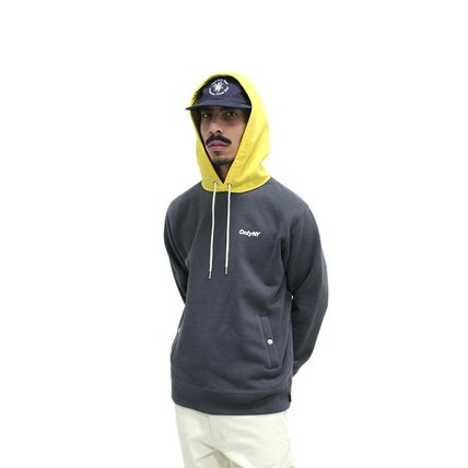 ONLY NY Hoodies Pullovers Street Style Long Sleeves Plain Cotton Hoodies 3