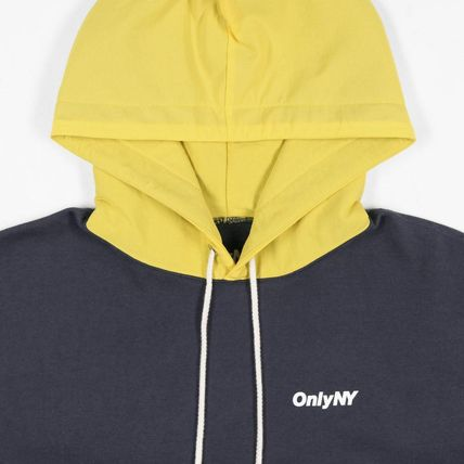 ONLY NY Hoodies Pullovers Street Style Long Sleeves Plain Cotton Hoodies 6