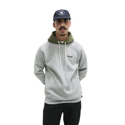 ONLY NY Hoodies Pullovers Street Style Long Sleeves Plain Cotton Hoodies 9