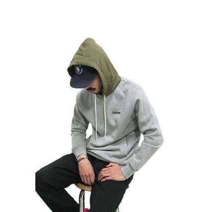 ONLY NY Hoodies Pullovers Street Style Long Sleeves Plain Cotton Hoodies 10