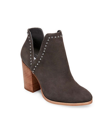 6652e54b7f7 ... Steve Madden High Heel Round Toe Casual Style Street Style Plain Leather  3 ...