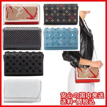 Christian Louboutin Paloma Calfskin Studded 2WAY Shoulder Bags