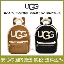UGG Australia Casual Style Suede Plain Backpacks