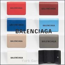 BALENCIAGA EVERYDAY TOTE Unisex Calfskin Plain Folding Wallets