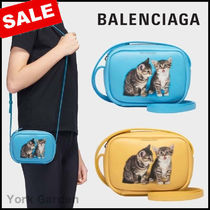 BALENCIAGA EVERYDAY TOTE Casual Style Calfskin Other Animal Patterns Shoulder Bags