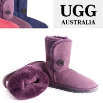 UGG Australia Round Toe Casual Style Sheepskin Plain Ankle & Booties Boots