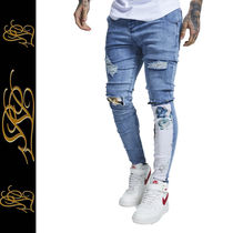 SikSilk Flower Patterns Denim Street Style Skinny Fit Jeans & Denim