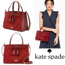kate spade new york Casual Style Suede 2WAY Plain Handbags