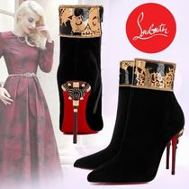 Christian Louboutin Velvet Plain Pin Heels Ankle & Booties Boots