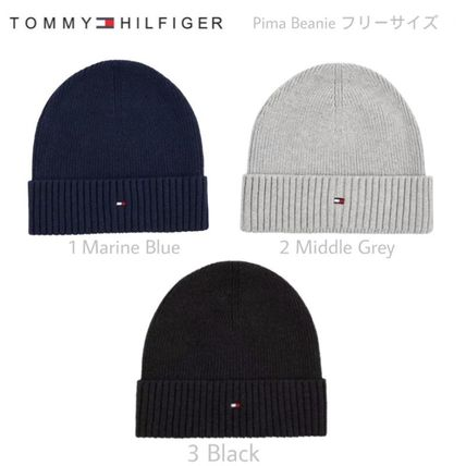 Tommy Hilfiger 2018-19AW Unisex Street Style Knit Hats by ドイツより ... bae90898222