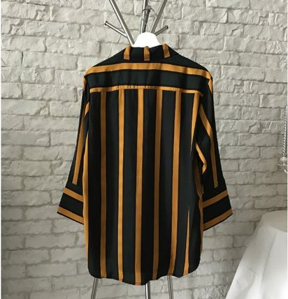 Shirts Stripes Cropped Oversized Shirts 7