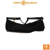 Tory Burch Platform Casual Style Suede Lace-Up Shoes