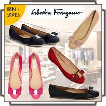 Salvatore Ferragamo Round Toe Casual Style Blended Fabrics Bi-color Plain