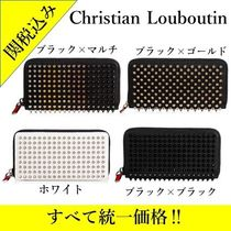 Christian Louboutin Panettone  Unisex Studded Leather Long Wallets