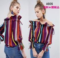 ASOS Stripes Casual Style Long Sleeves Shirts & Blouses