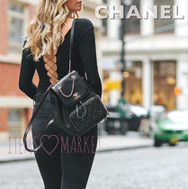 CHANEL Casual Style Calfskin 2WAY Plain Backpacks