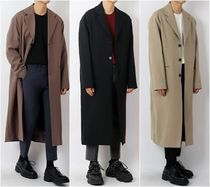 Street Style Plain Long Coats