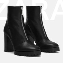 ZARA Leather Boots Boots