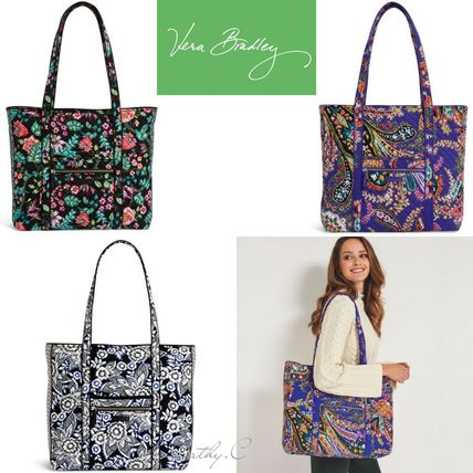 Flower Patterns Paisley Casual Style Street Style A4 Totes