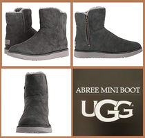 UGG Australia ABREE MINI Round Toe Rubber Sole Casual Style Suede Plain