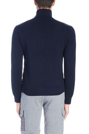 MONCLER Cardigans Wool Blended Fabrics Street Style Plain Logos on the Sleeves 2