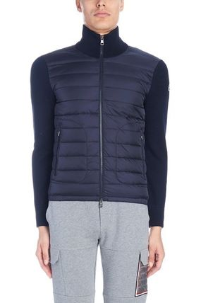MONCLER Cardigans Wool Blended Fabrics Street Style Plain Logos on the Sleeves 3