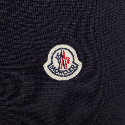MONCLER Cardigans Wool Blended Fabrics Street Style Plain Logos on the Sleeves 4