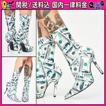 DOLLS KILL Casual Style Pin Heels Ankle & Booties Boots