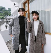 Other Check Patterns Unisex Street Style Long Chester Coats