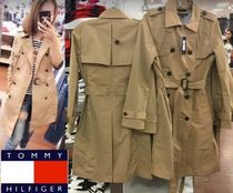 Tommy Hilfiger Casual Style Plain Long Trench Coats