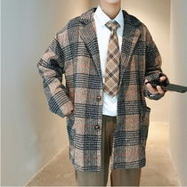 Short Other Check Patterns Street Style Chester Coats