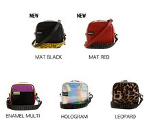 Leopard Patterns Casual Style Street Style Shoulder Bags
