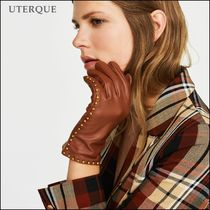Uterque Plain Leather With Jewels Elegant Style