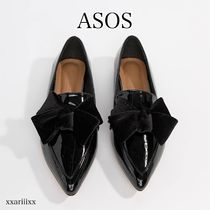 ASOS Casual Style Faux Fur Plain Loafer Pumps & Mules