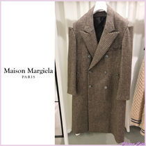 Maison Margiela Other Check Patterns Casual Style Wool Long Oversized