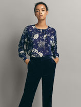 Massimo Dutti Flower Patterns Long Sleeves Shirts & Blouses