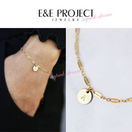 Initial Chain With Jewels Elegant Style Bracelets